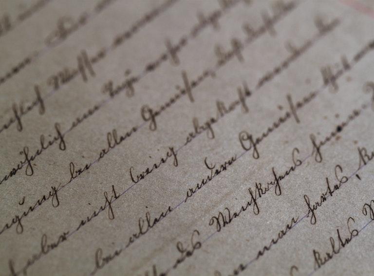 Hand written page