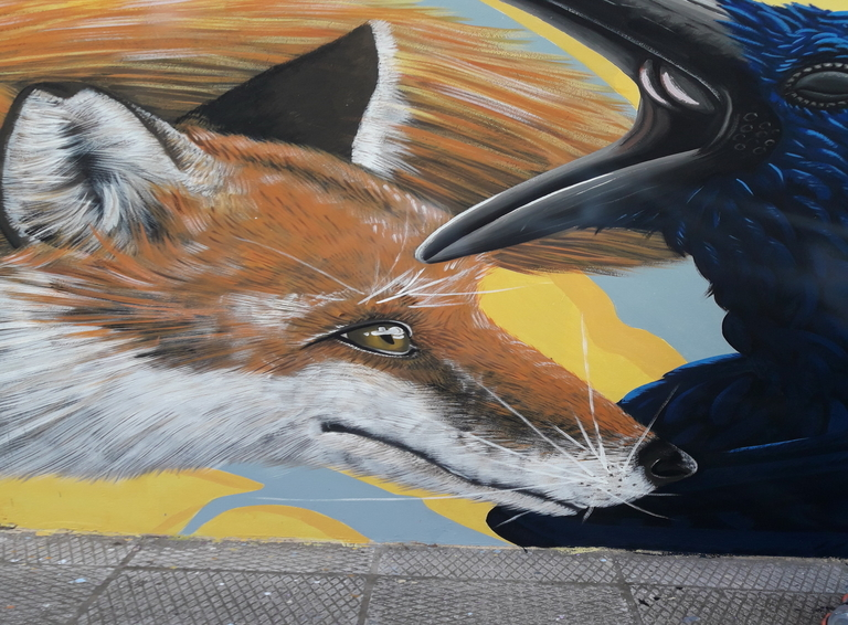 fox and craw graffiti